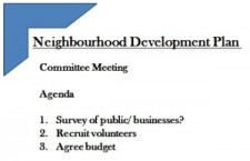 Neighbourhood Plan consultation surveys